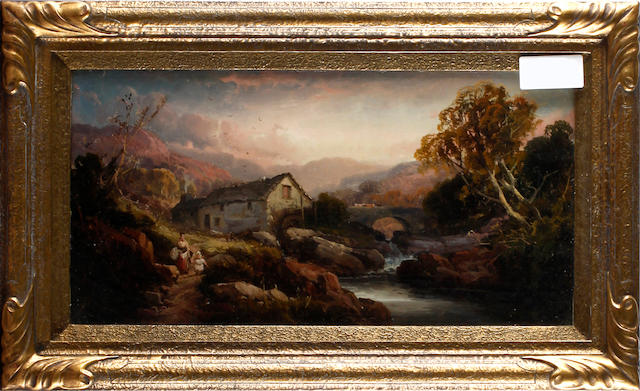 English School, late 19th Century Country landscapes