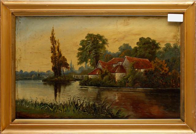 Octavius T. Clark (British, 1850-1921) River landscapes