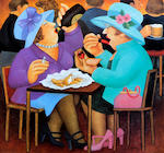 Beryl Cook (British, 1926-2008) 'Ladies Who Lunch'