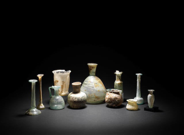 A group of eleven Roman glass vessels  11