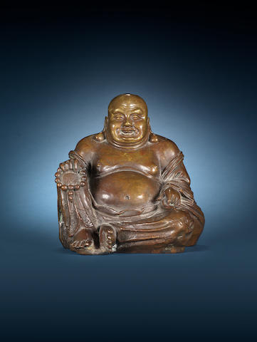 A documentary bronze figure of Budai