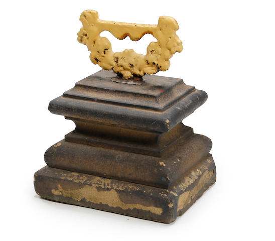 A 19th century boot-scraper