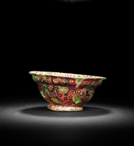 A Roman mosaic glass patella cup