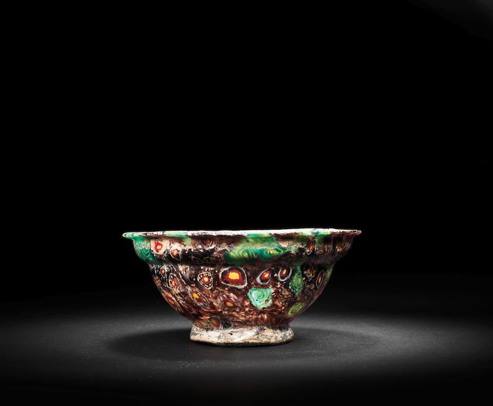 A Roman mosaic glass patella cup