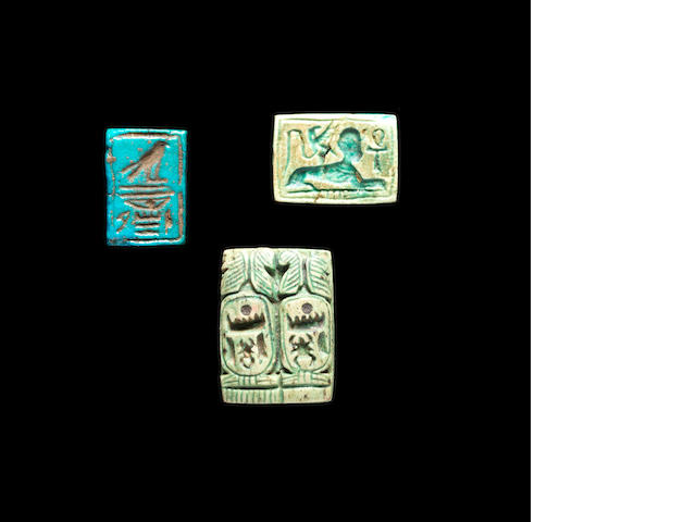 Three Egyptian double-sided plaques 3