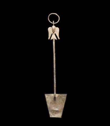 A Byzantine silver spatula