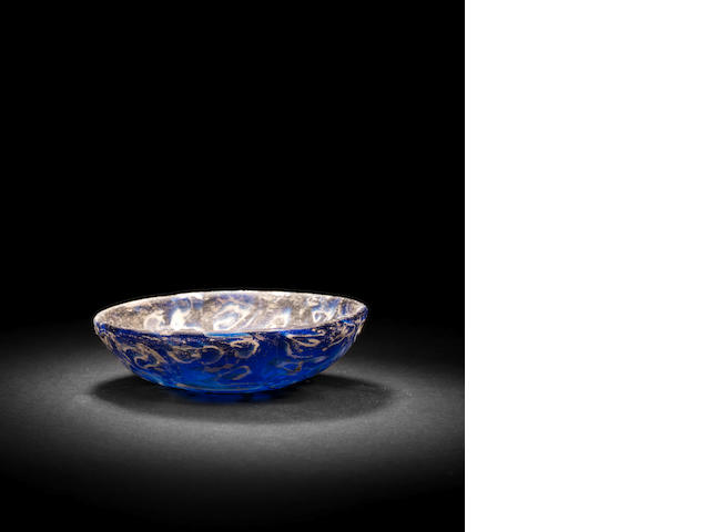 A Roman shallow cast mosaic glass bowl