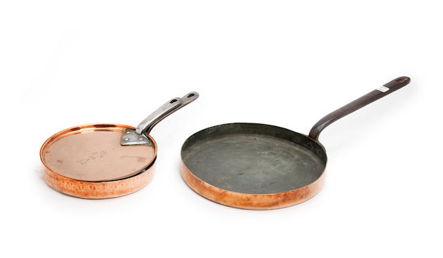 Three pieces of 19th century kitchen copper