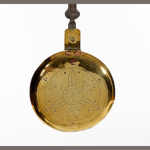 A late 17th century brass and steel warming pan