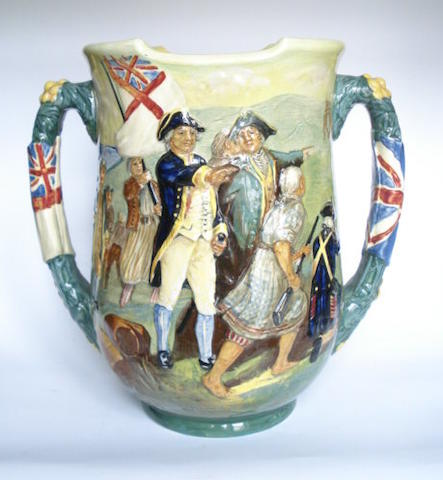 Doulton Burslem 'Captain Cook' a Loving Cup, 1933
