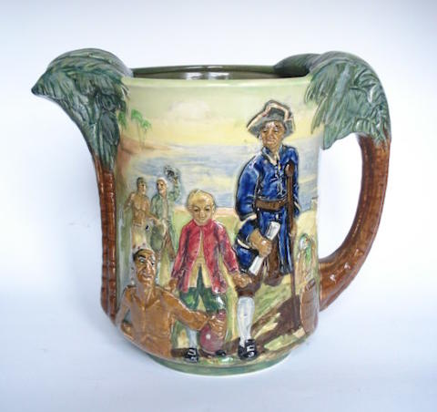 Doulton Burslem 'Treasure Island' a Commemorative Jug, 1934