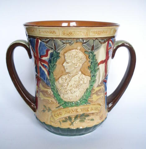 Doulton Burslem 'Coronation of George VI' a Small Size Loving Cup, 1937