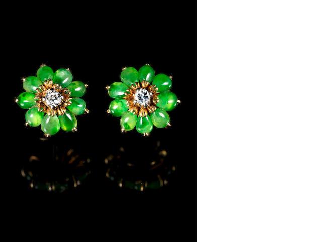 A pair of decorative ear rings