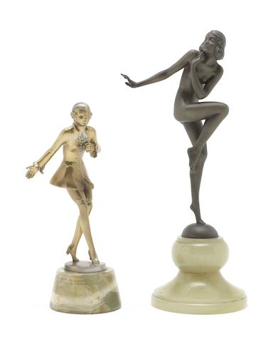 Stefan Dakon A Bronze Study of a Nude Dancing Girl, circa 1925