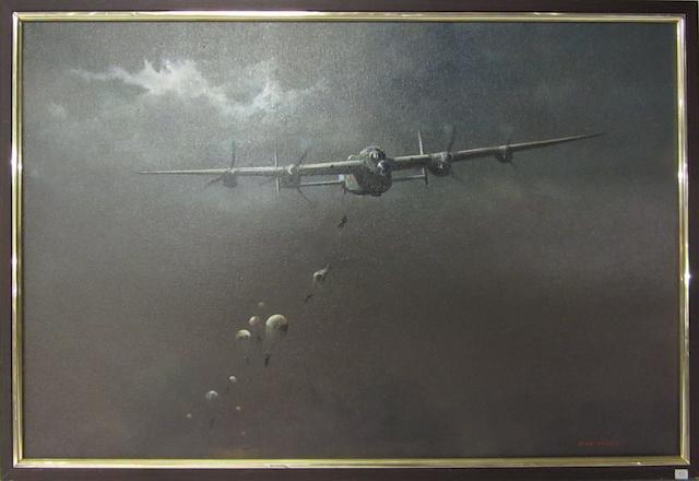 Dion Pears Parachute Drop 61 x 91.5cm.