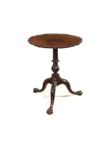An 18th century mahogany pie-crust side table