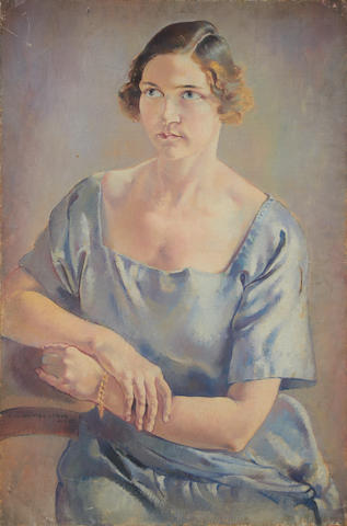 Clara Klinghoffer (British, 1900-1972) Self portrait of the artist