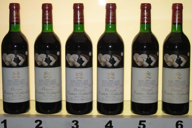 Chateau Mouton Rothschild 1986 (10)