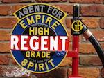 A finely restored model 281 Gilbert & Barker hand operated petrol pump