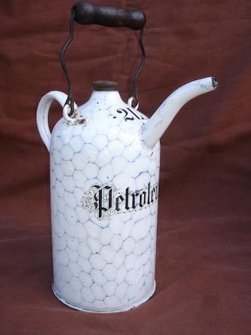 A veteran 2 litre petrol priming kettle,
