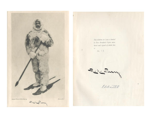 PEARY (ROBERT) The North Pole... with an Introduction by Theodore Roosevelt, NUMBER 64 OF 500 EDITION DE LUXE COPIES, 1910