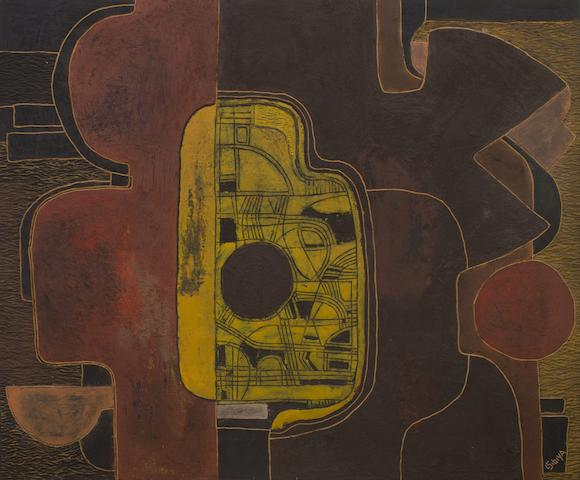 Lucky Madlo Sibiya (South African, 1942-1999) Abstract