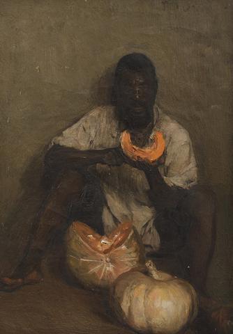 Frans David Oerder (South African, 1867-1944) 'Pampoene Afskil' (Peeling Pumpkins)