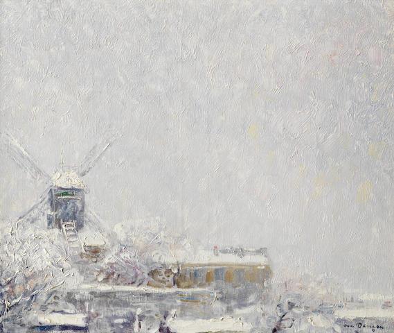 Kees van Dongen (Dutch, 1877-1968) Le Moulin de la Galette sous la neige