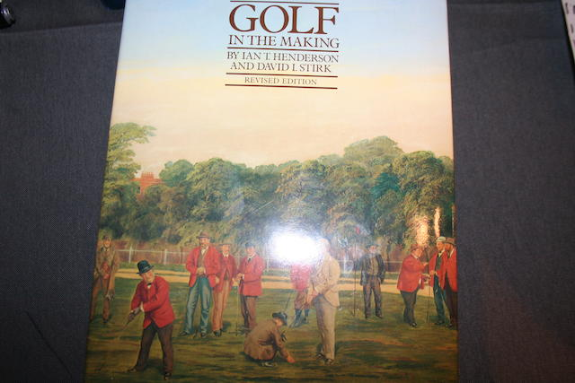 A collection of golfing books