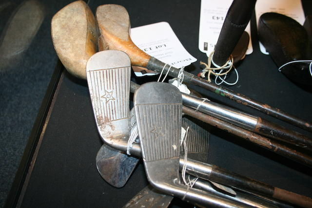 Joyce Wethered: a set of her personal clubs in a golf bag