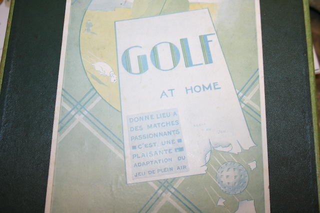 "Un Jeau Nouveau:""Golf at Home"""