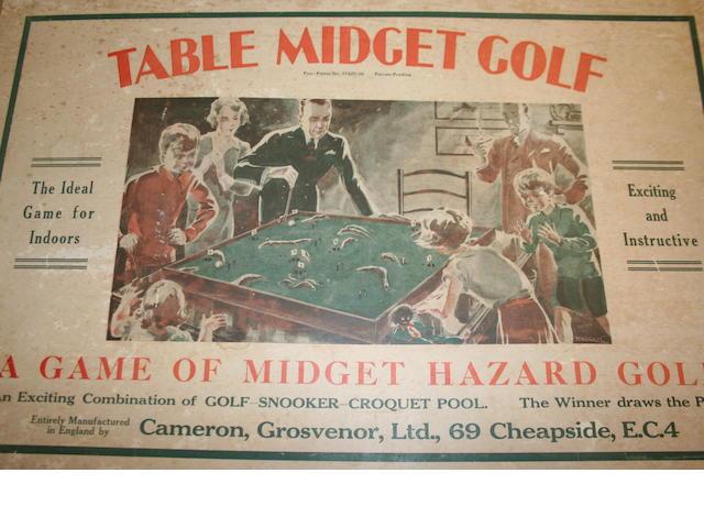 Table Midget Golf – A game of Midget Hazard Golf
