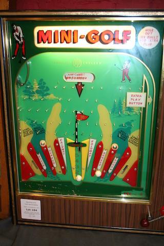 Jamieson: A'Mini Golf' wall mounted arcade slot machine circa 1960
