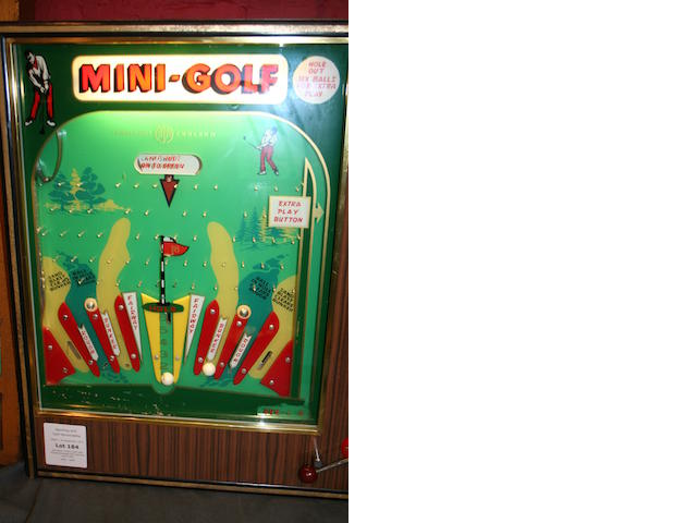 Jamieson: A'Mini Golf' wall mounted arcade slot machine circa 1960