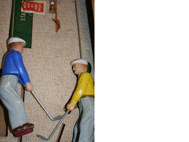 US Games Corporation: 'Golfer Ike Twosome' Model golf game circa early 1950s.