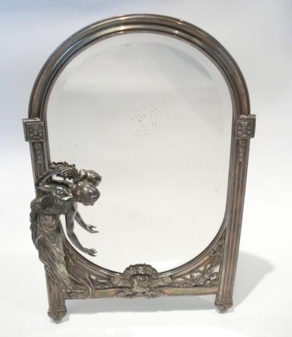 WMF a Figural Easel Mirror, circa 1910