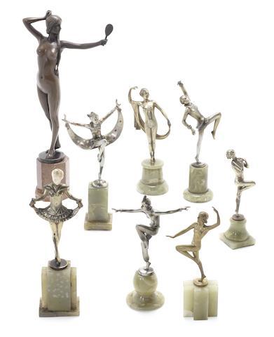 Josef Lorenzl a Gilt-Bronze Model of a Dancing Girl, circa 1925