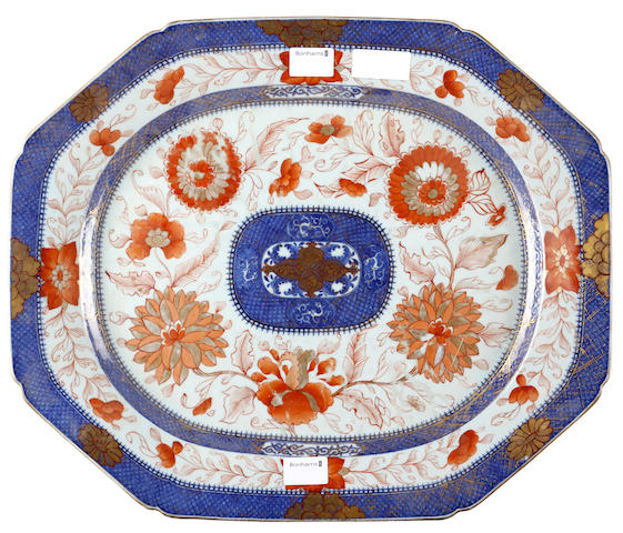 A Chinese export ware meat plate,