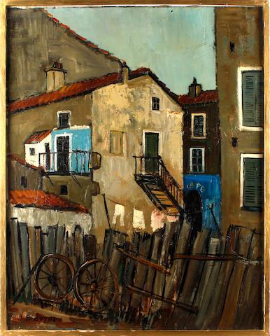 Jacques Bouyssou (French, 1926-1997) Corsican scene