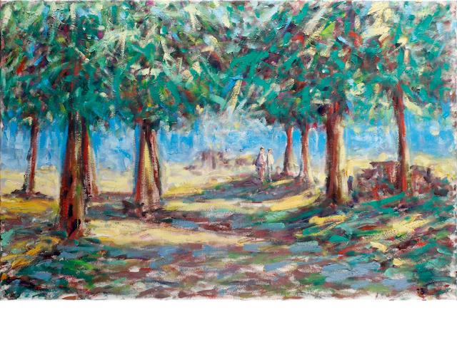 Paul Beauvais (British) Poplars