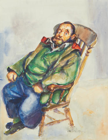 Robert O. Lenkiewicz (British, 1941-2002) Portrait of a seated man