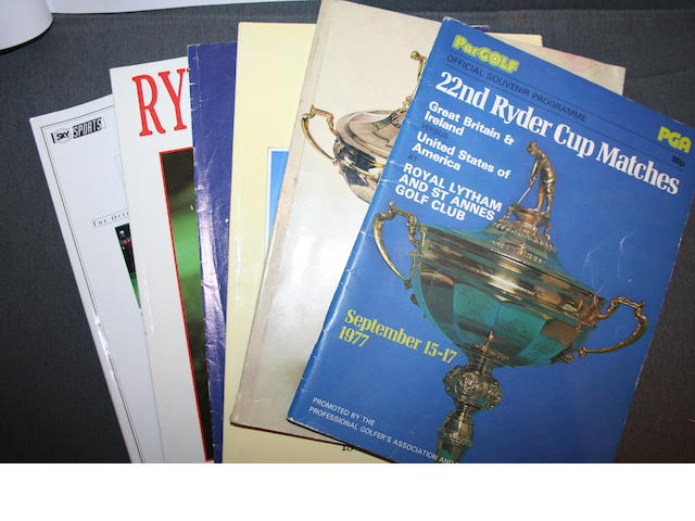A collection of Ryder Cup programmes