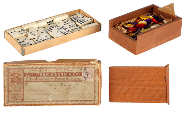 A set of fifty five 19th Century bone dominoes