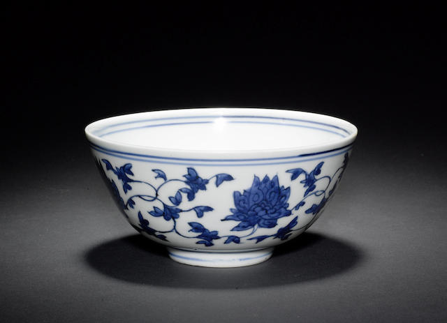 Eight blue and white wares