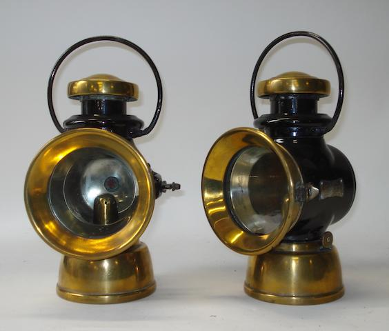 A pair of Lucas 'King of the Road' No.725 oil-illuminated side-lamps,