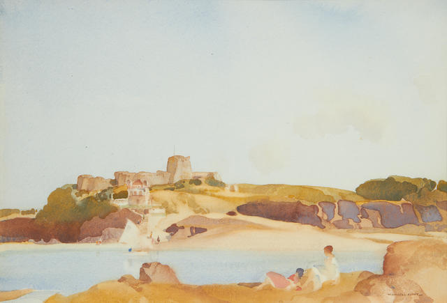 Sir William Russell Flint R.A., P.R.W.S. (British, 1880-1969) The Little Estuary, St Brieux, Brittany