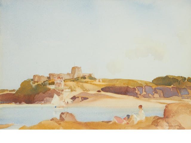 William Russell Flint (Scottish, 1880-1969) The Little Estuary, St Brieux, Brittany