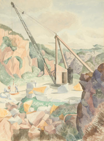 John Northcote Nash (British, 1893-1977) De Lank Quarry, Cornwall