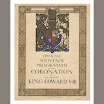 Royal programmes, including mock-up for Edward's 'coronation', etc