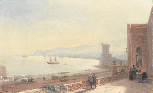 Ivan Konstantinovich Aivazovsky (Russian, 1817-1900) View from the terrace of the artist's house in Feodosia